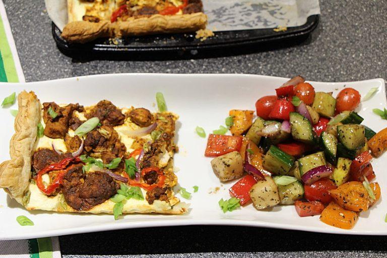 Butter Chicken and Ricotta Tart