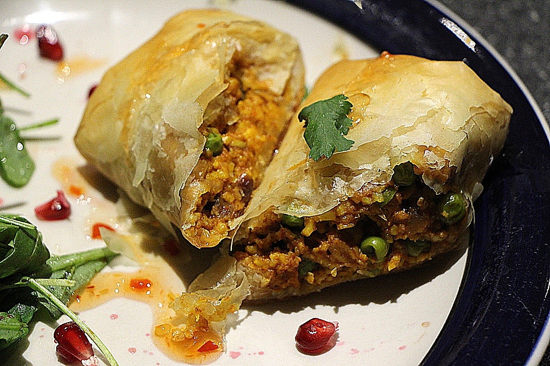 Phyllo Pastry Paneer Pillows