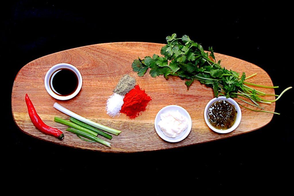 Warm potato salad ingredients