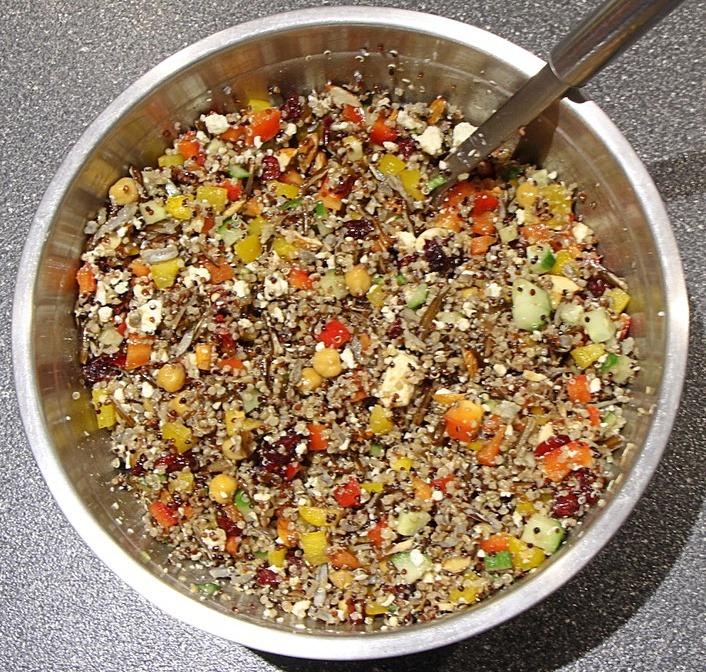 Combined quinoa salad
