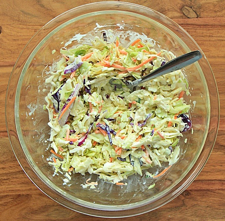 Coleslaw mix ready for use