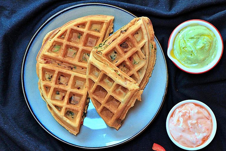 The Best in Town Sunday Brunch Savoury Waffles
