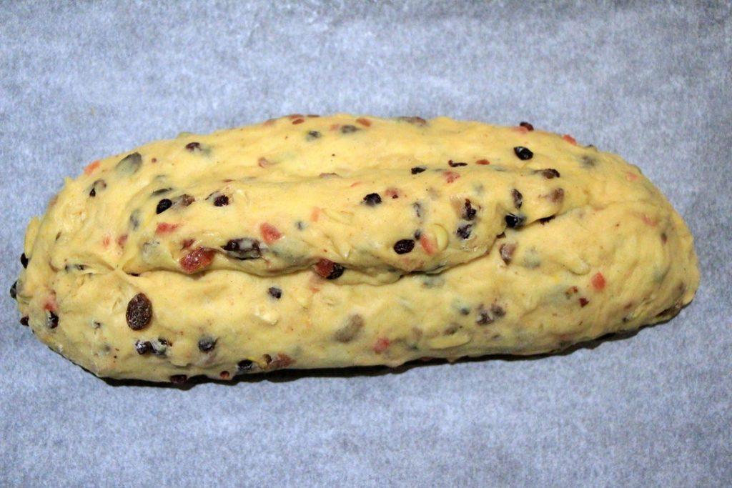 German stollen loaf formed