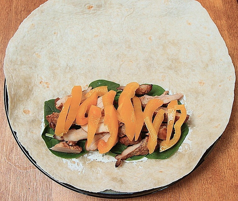 Wrap with peppers
