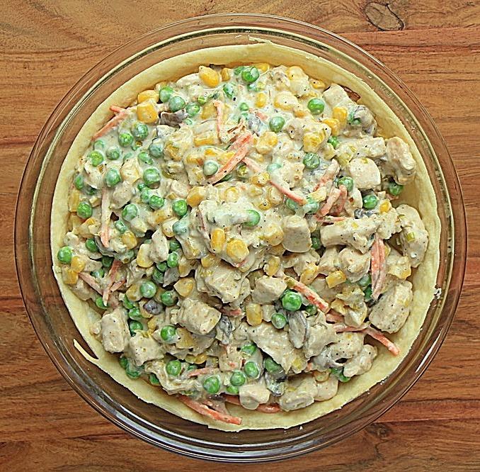 Chicken mix in pie crust