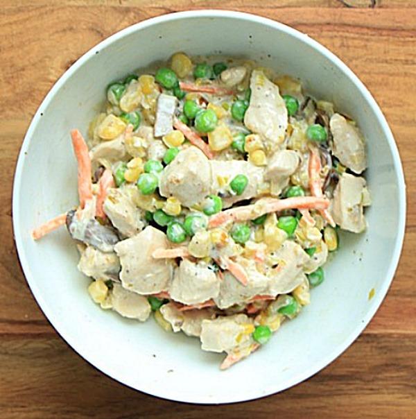 Chicken pot pie vegetables