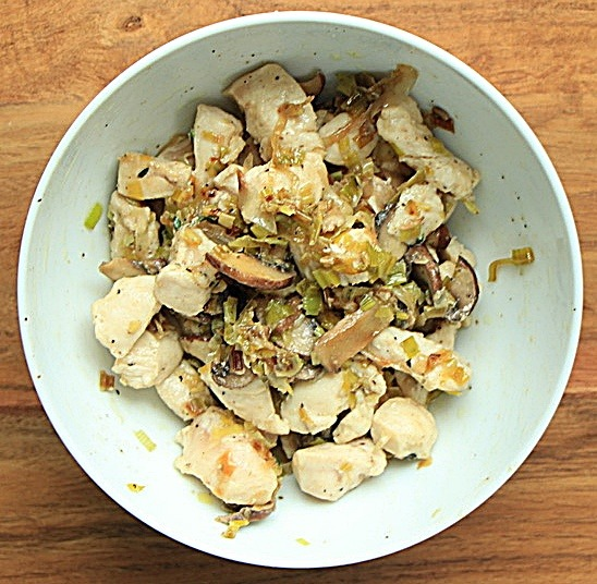 Chicken leeks and mushrooms
