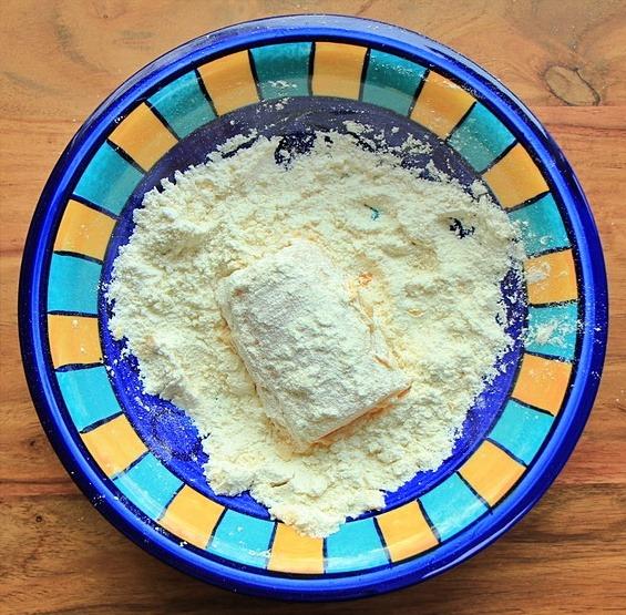 Fish in flour
