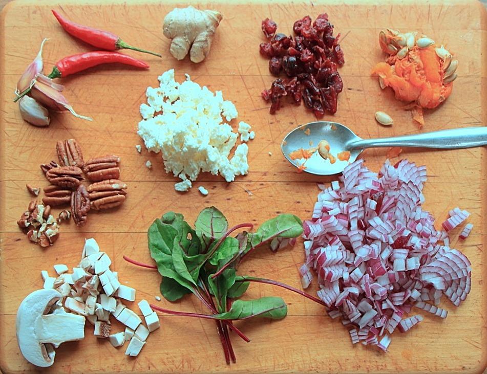 Stuffed squash ingredients