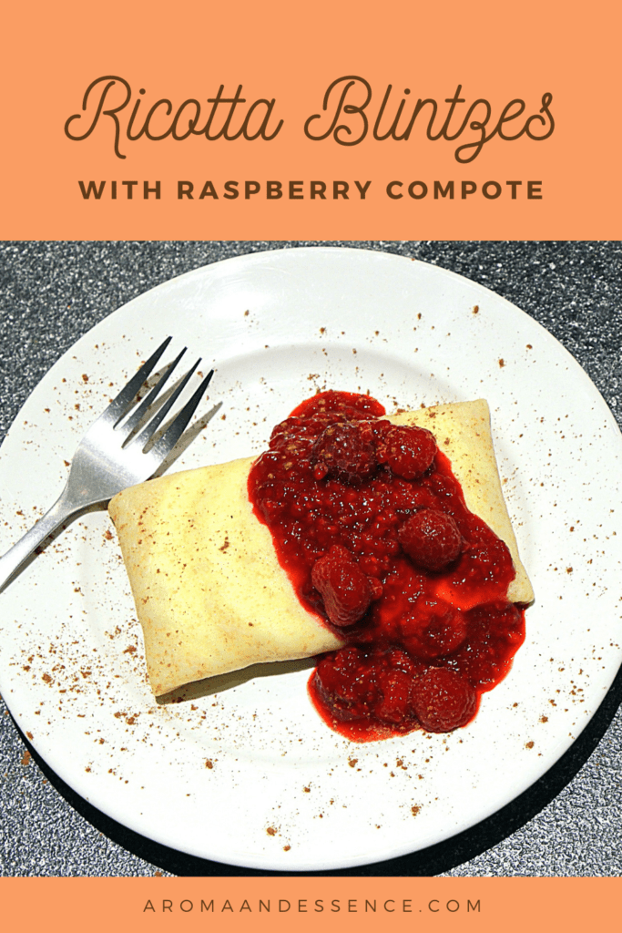Ricotta Blintzes With Raspberry Compote