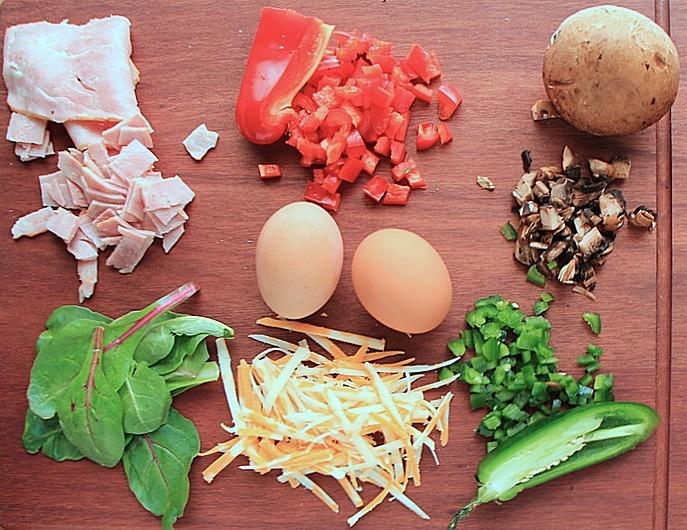 Scrambled egg wrap ingredients