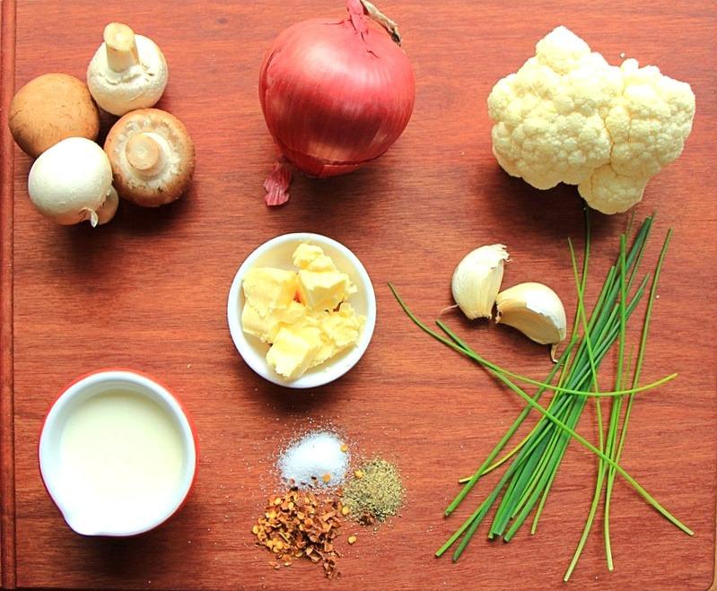 Cauliflower mash ingredients