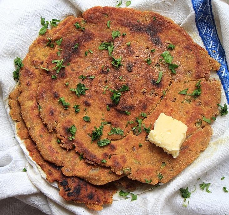 Leftover lentil flatbread