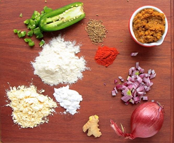 Leftover lentil flatbread ingredients