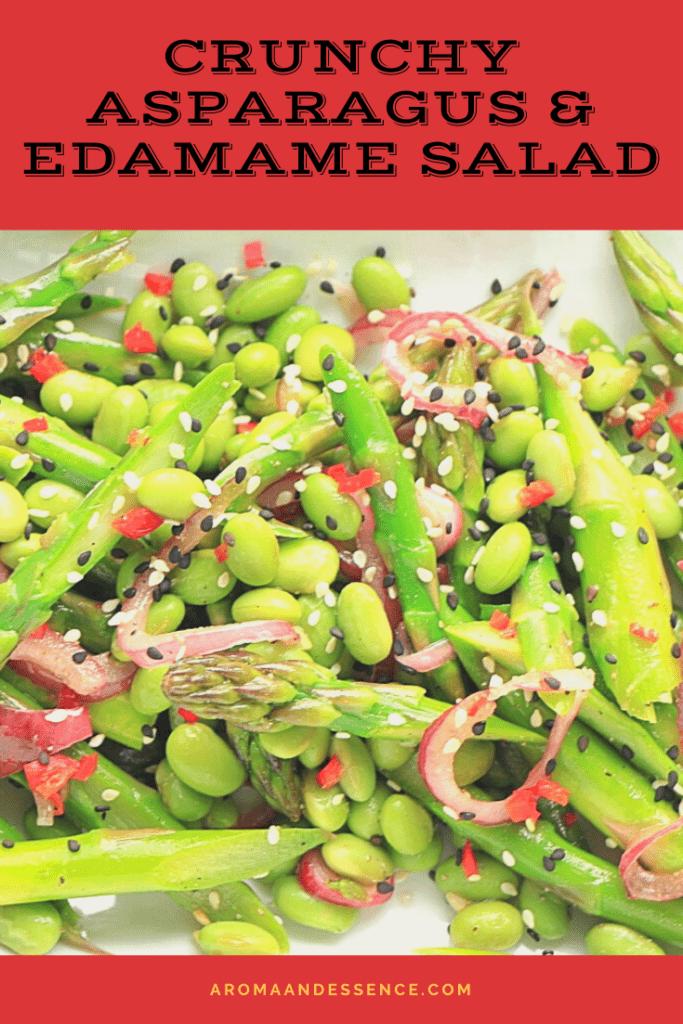 Crunchy Asparagus Salad with Edamame