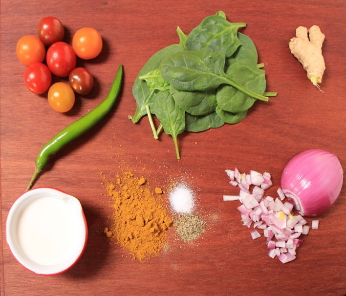 Ingredients for curry meatballs