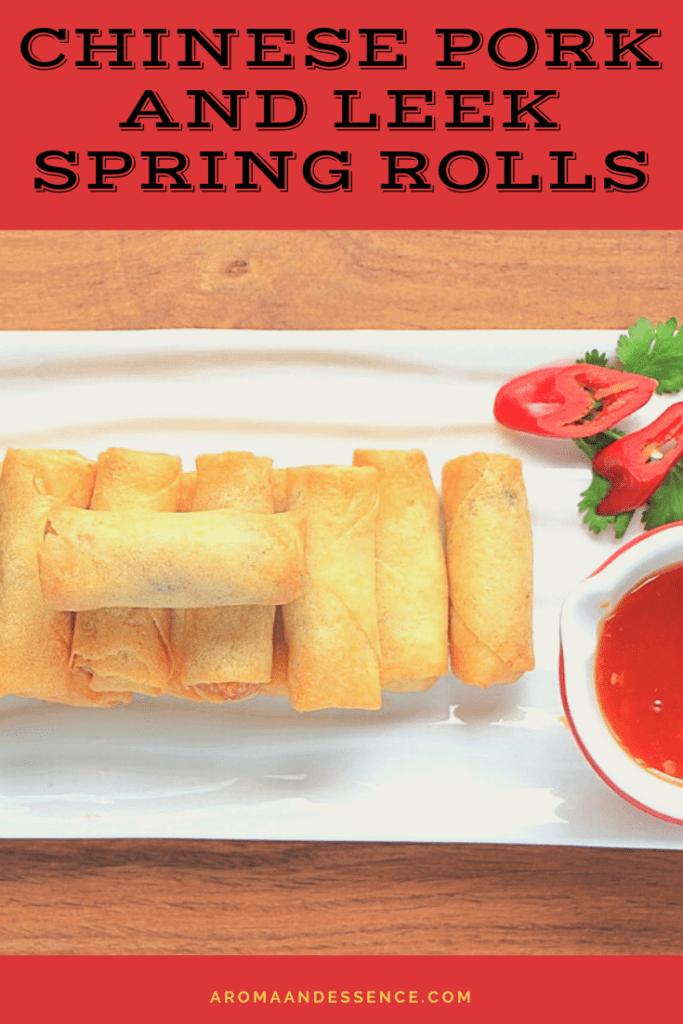 Chinese Pork and Leek Spring Rolls