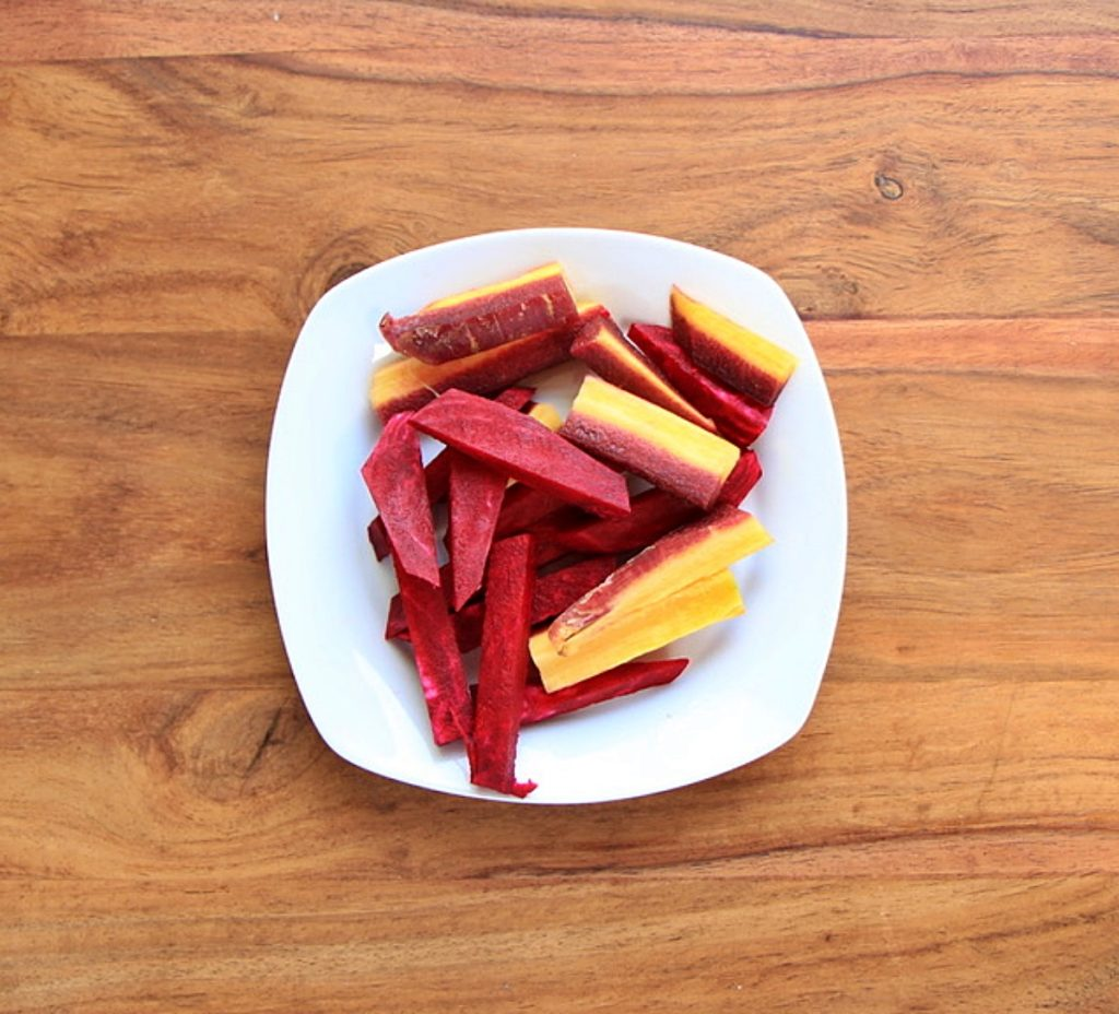 Chopped beets and carrot