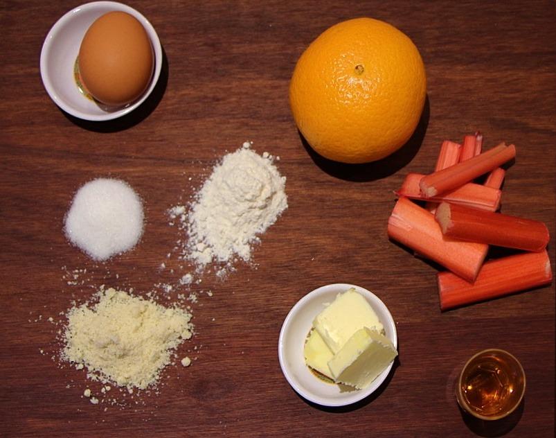 Rhubarb frangipane galette ingredients