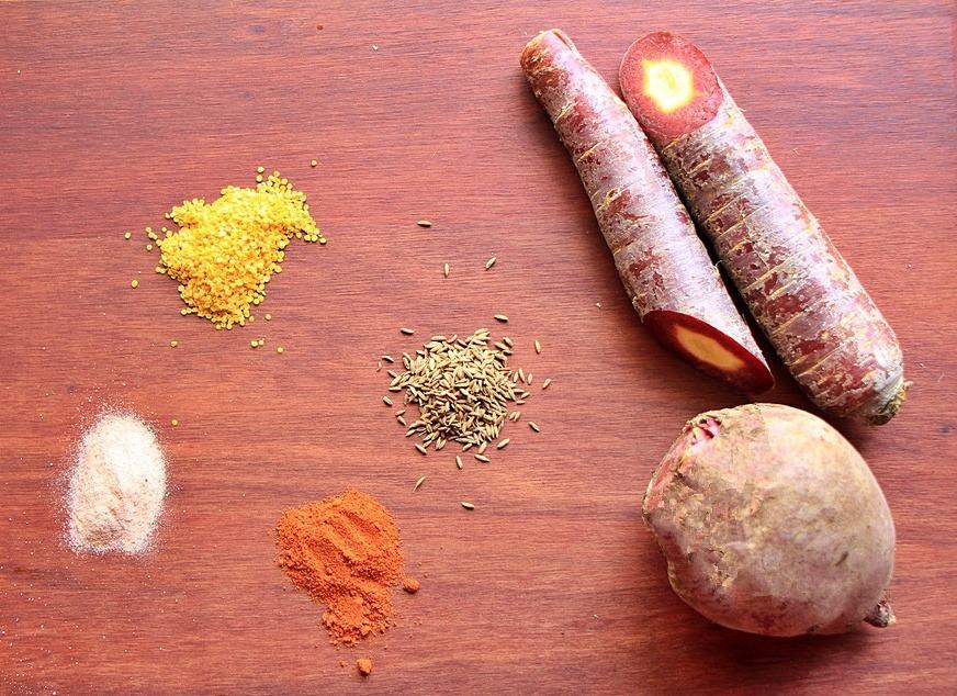 Ingredients for beet probiotic drink