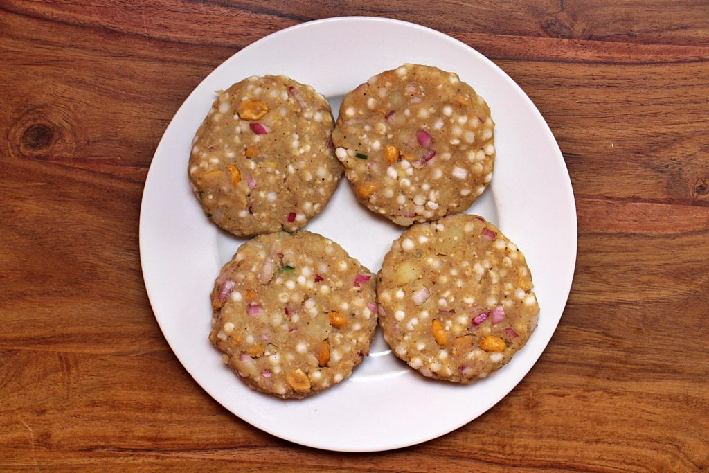 Tapioca pearl patties ready to be cooked