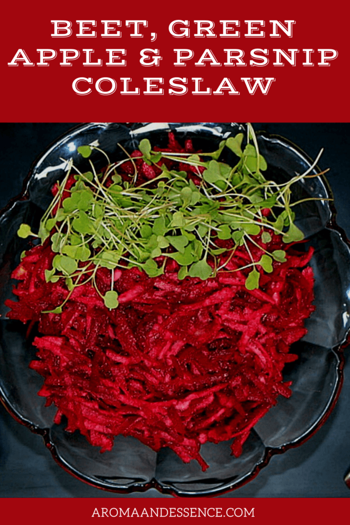 Beet Coleslaw with Green Apple and Parsnip