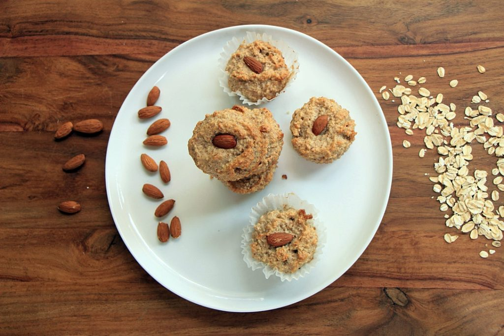 Oat and almond muffins
