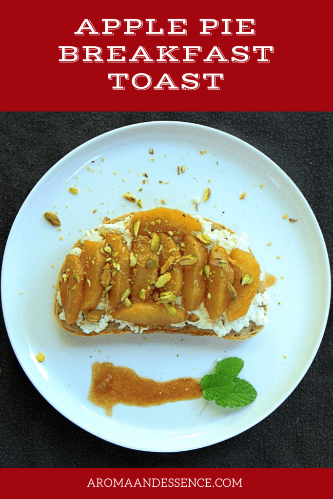 Healthy Apple Pie Ricotta Toast