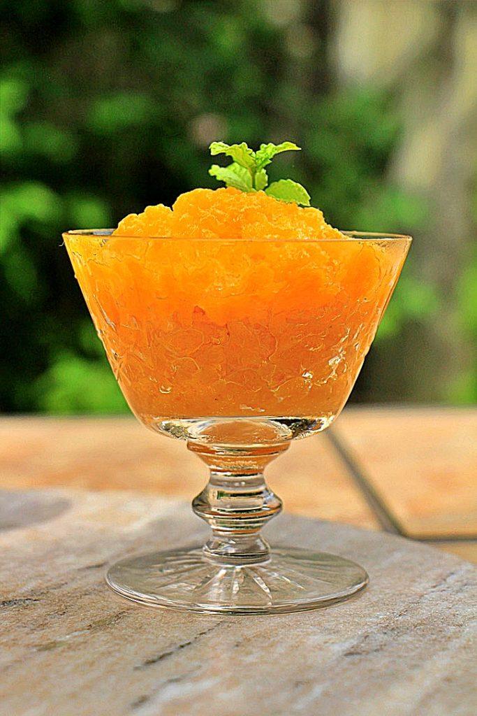 The perfect summer mango granita