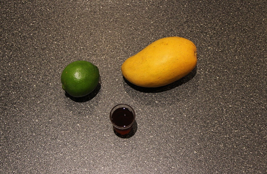 Ingredients for mango granita