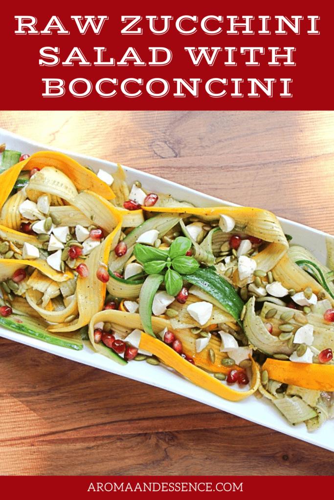 Raw Zucchini Salad with Bocconcini