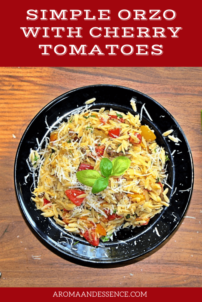 Simple Orzo with Cherry Tomatoes