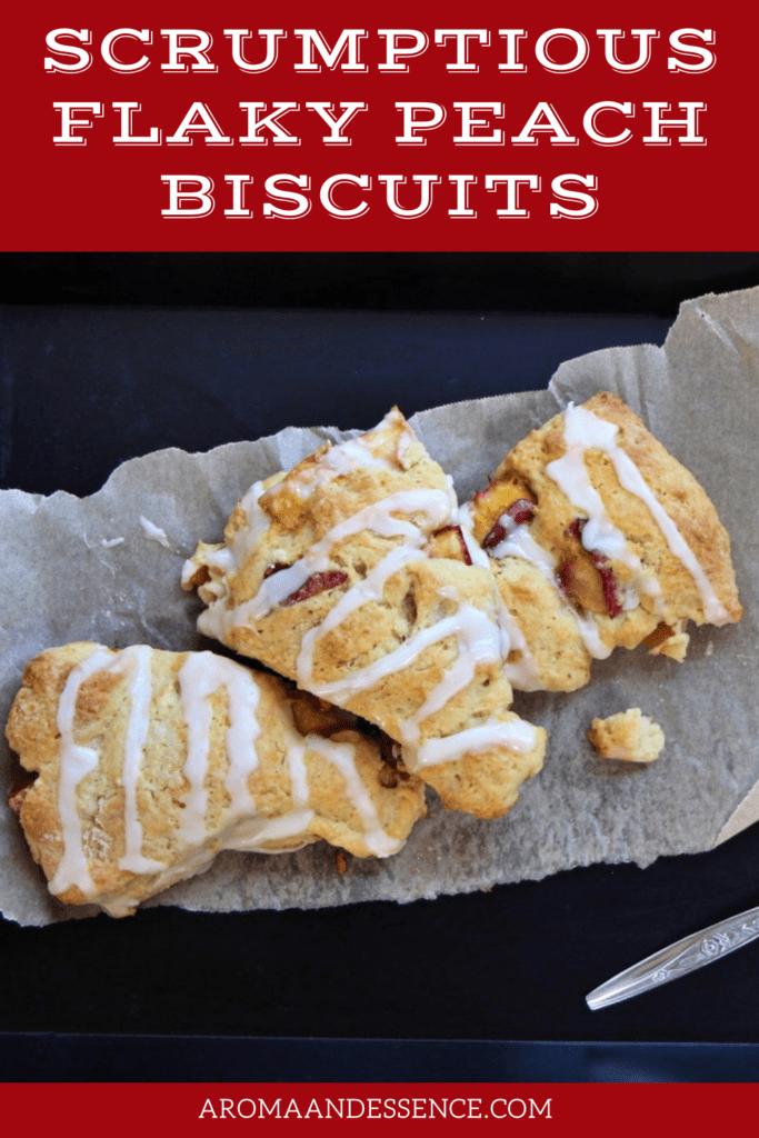 Scrumptious Flaky Peach Biscuits
