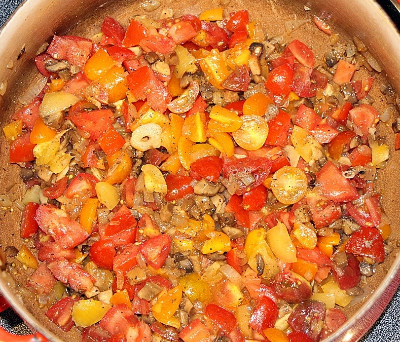 Tomatoes in a pan