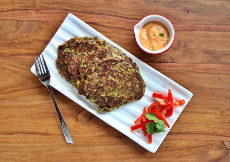 Gluten Free Zucchini and Eggplant Fritters